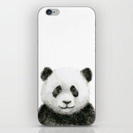 Baby Panda Watercolor iPhone Skin