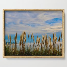 Fort Bragg's Ocean Cattails Serving Tray