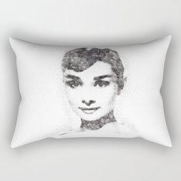 Audrey Hepburn portrait 02 Rectangular Pillow