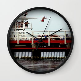 Takin A Dive Wall Clock