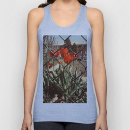 The Red Tulips Unisex Tank Top