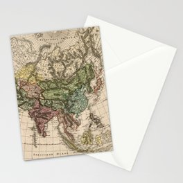 Charte van Asien (Map of Asia) 1805 Stationery Cards
