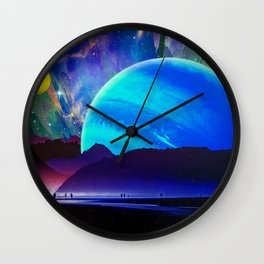 A Sunday Afternoon On The Island Of A Distant Planet Wall Clock