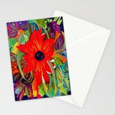 Beautiful flower art pattern decorative Stationery Cards
