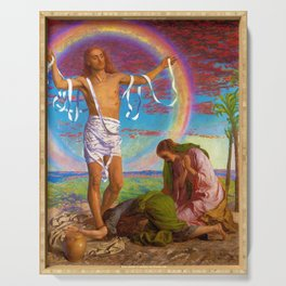 William Holman Hunt - Christ And The Two Marys - Digital Remastered Edition Serving Tray
