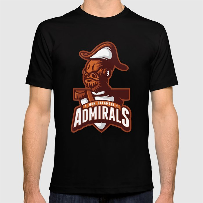 Mon Calamari Admirals on Orange T-shirt