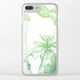 Amazonia (green) Clear iPhone Case