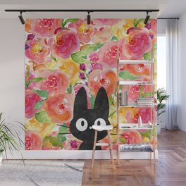 Jiji in Bloom Wall Mural