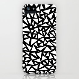 White triangles on Black background iPhone Case