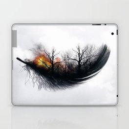 Fire Feather • Black Feather (horizontal) Laptop & iPad Skin