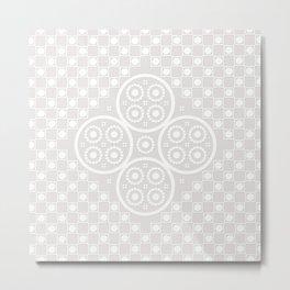 Lace pattern Metal Print