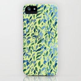 Spring Leaves Botanical iPhone Case