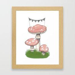 Mushroom Party Framed Art Print