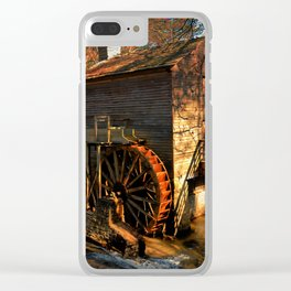 Evening Watermill Clear iPhone Case