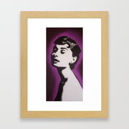 Audrey in Purple Framed Art Print
