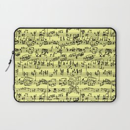 Hand Written Sheet Music // Canary Yellow Laptop Sleeve