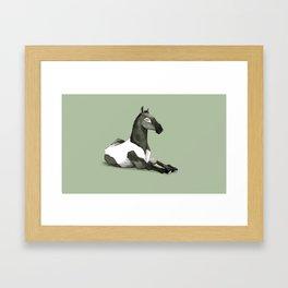 Cavallo offeso Framed Art Print