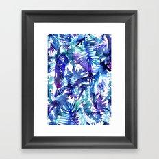 Vibe of the JUNGLE  {B-Blue} Framed Art Print