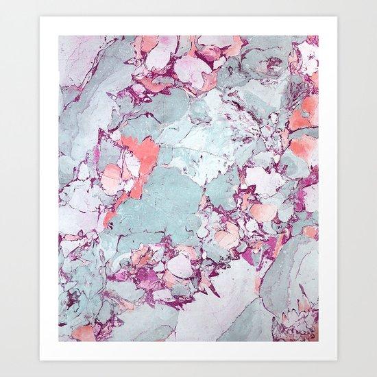 Marble Art V13 #society6 #pattern #decor #home #lifestyle Art Print