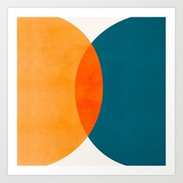 Mid Century Eclipse / Abstract Geometric Art Print