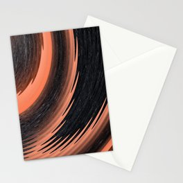 organge red waves and strips an elaborate pattern in strong Faben Stationery Cards
