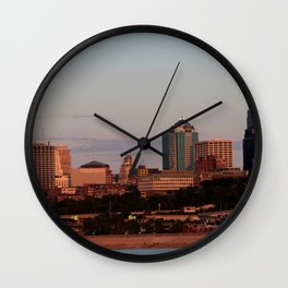 Kansas City Summer Skyline Wall Clock