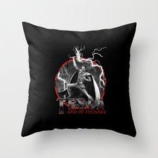 Tesla: God of Thunder Throw Pillow