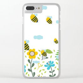 Bee Flaying Clear iPhone Case