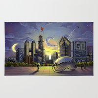 chicago Area & Throw Rugs featuring Chicago by The Kao