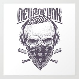 Neurofunk Soldier Art Print