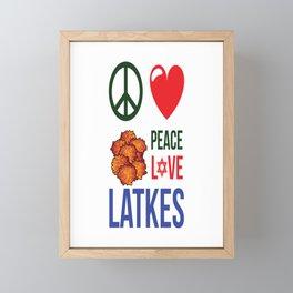 Peace Love Latkes Framed Mini Art Print