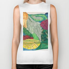 Fruit and Veggie Bowl with Rose Biker Tank