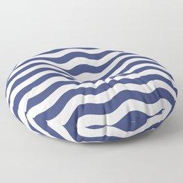 Blue Nautical Waves Floor Pillow
