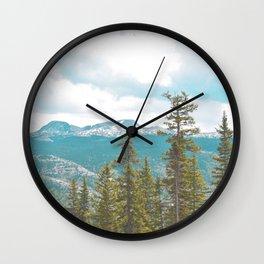 Take Me to the Mountains Wall Clock