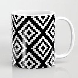 Black and White Geometrical Tribal Pattern Coffee Mug