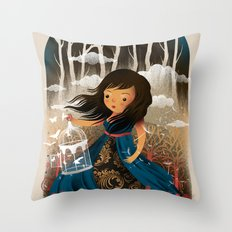 There Once Was A Girl In A Whimsical Land Throw Pillow