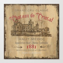 Barrel Wine Label 1 Canvas Print