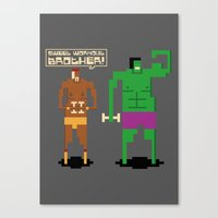 workout Canvas Prints featuring Sweet Workout by Hoborobo