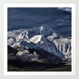 Mount Everest from the north side view in China Art Print