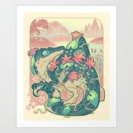 Aquatic buddies Art Print