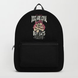 90's Hip Hop Cat with Bandana and Tattoos Loyal T-Shirt Backpack