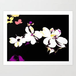 Dogwood In Abstract Art Print