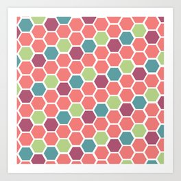 Ball Pit Hexagons Art Print
