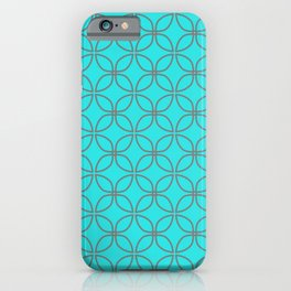 GUISE beautiful peacock blue with silver grey interlocking circles iPhone Case