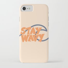 Stay Wavy Surf Type iPhone Case