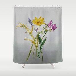 SERIES JASMIN WATERCOLOR FLOWERS Shower Curtain