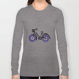 Spirograph bicycle, blue wheels Long Sleeve T-shirt