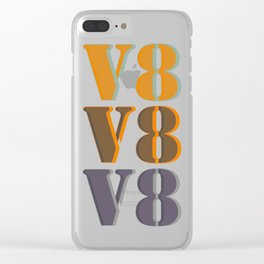 V8 (triple) Clear iPhone Case