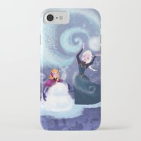snowman iPhone & iPod Cases featuring Snowman by samanthadoodles