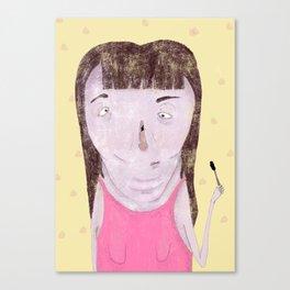 Mascara Problems Canvas Print